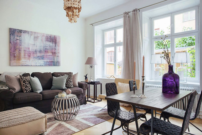Căn hộ 45 m2 với phong cách thiết kế nội thất Bắc Âu