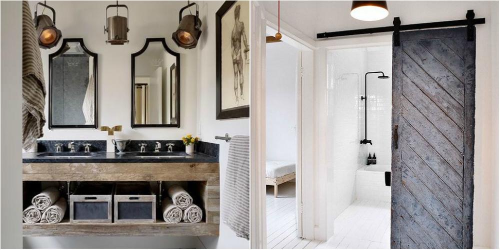 Phòng tắm theo phong cách nội thất công nghiệp