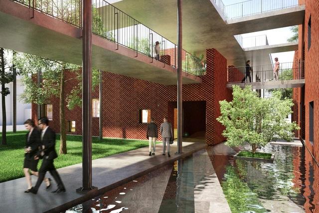 thiết kế khuôn viên học viện