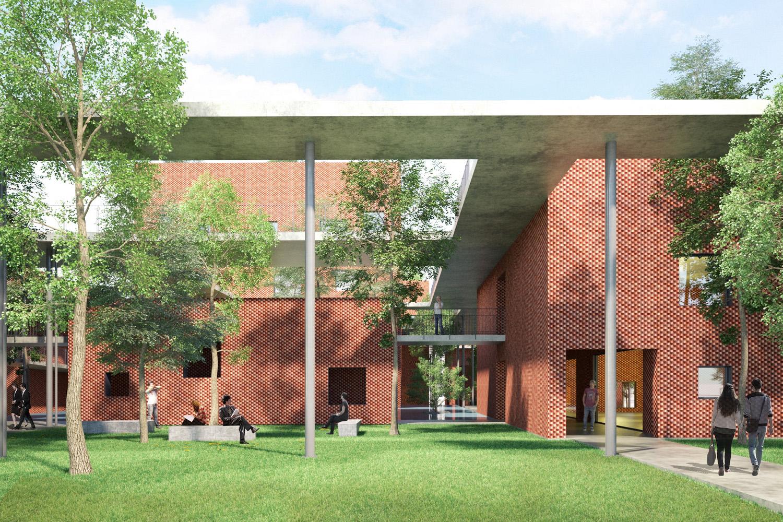 thiết kế khuôn viên học viện viettel