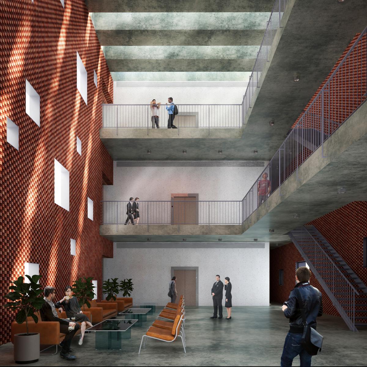 gạch nung làm chất liệu chính cho dự án kiến trúc