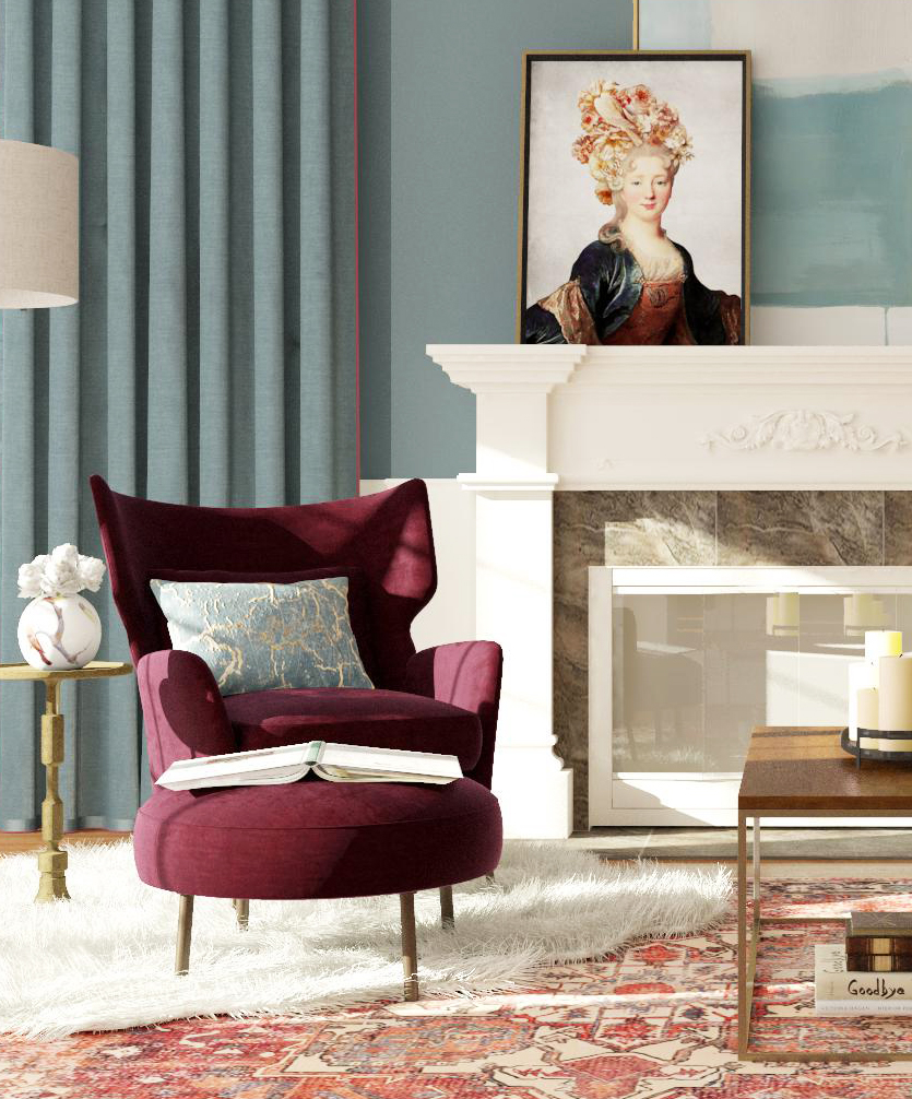 Sử dụng gam màu đỏ một cách tinh tế để thiết kế nội thất phòng khách