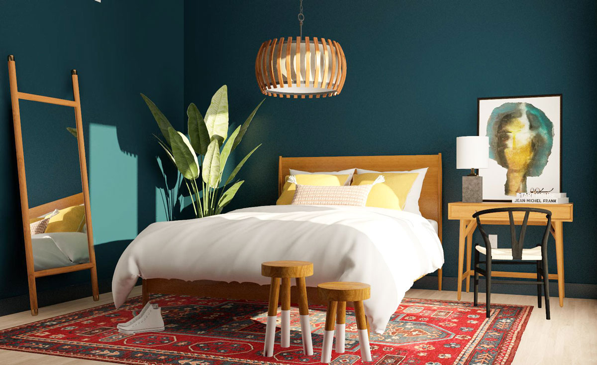5 ý tưởng thiết kế phòng ngủ với gam màu xanh