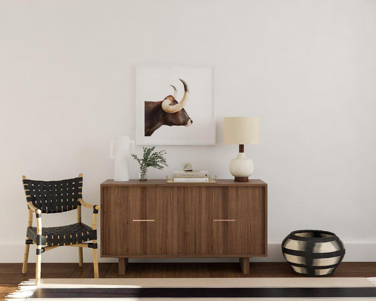 cách kết hợp chất liệu và họa tiết trong phong cách Modern Rustic