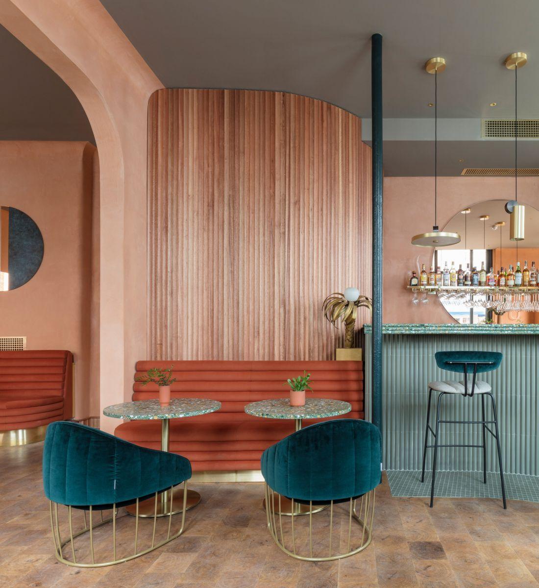 Một thiết kế ấn tượng trong không gian nội thất nhà hàng, quán cafe