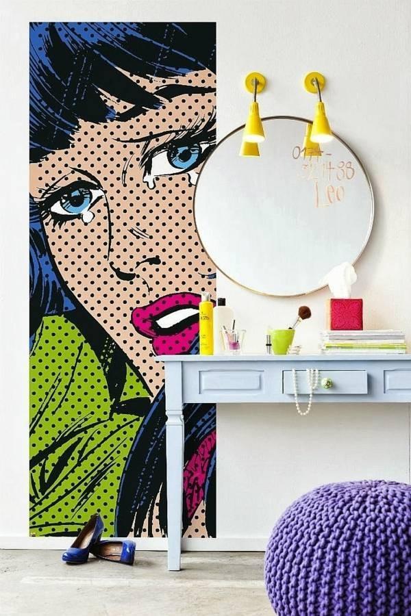 Căn phòng mở với họa tiết Pop Art