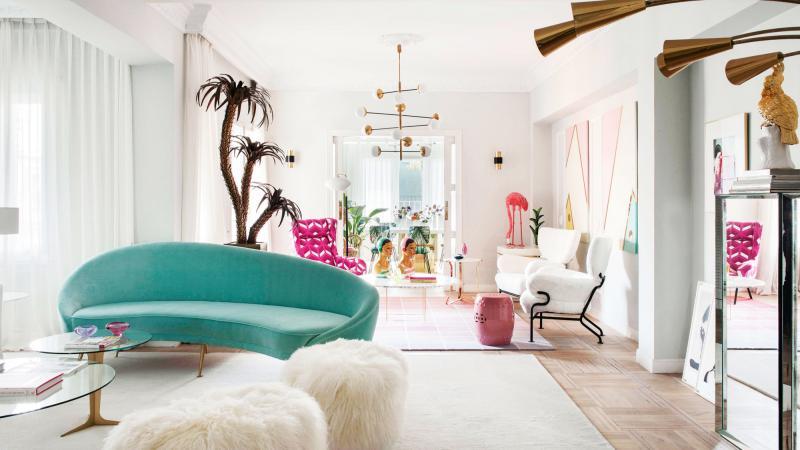 thiết kế căn hộ; gam màu pastel; thiết kế phòng khách