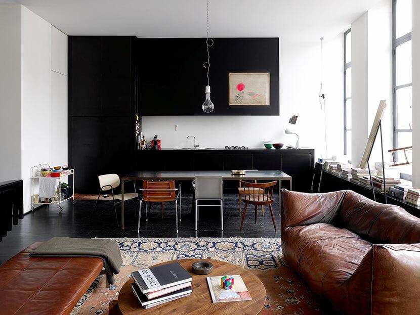 Ghế sofa chunky hiện đại sang trọng cho phòng khách
