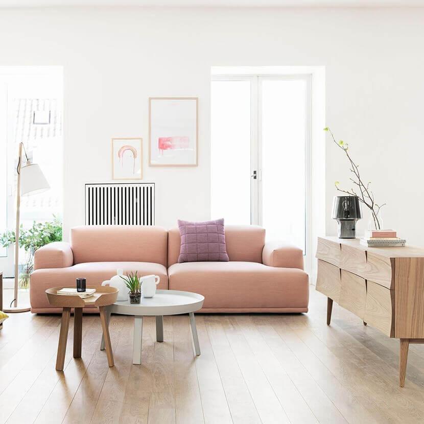 Những chiếc chunky sofa nhung, da phù hợp với không gian nội thất phòng khách trẻ trung