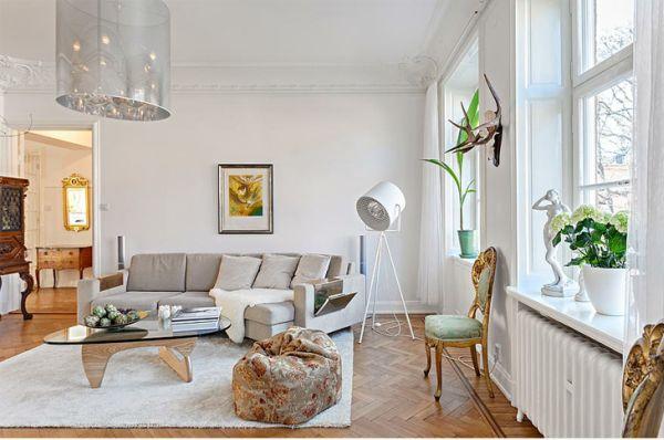 Sử dụng đèn tạo sự ấm áp trong nội thất Scandinavia