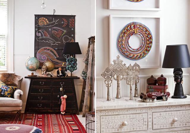 Nội thất nhà ở đẹp kết hợp nhiều vật trang trí khác nhau