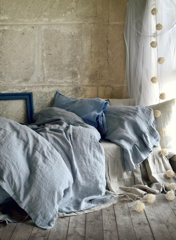 Bộ Ga gối linen đẹp trang trí phòng ngủ