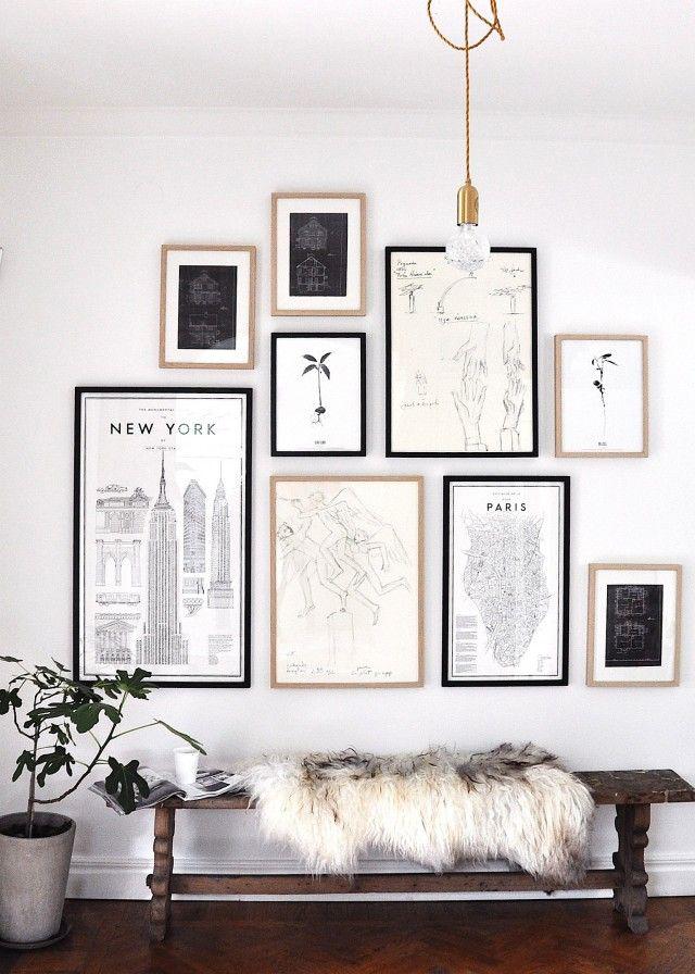 Cách tạo bộ sưu tập tranh treo tường phòng khách - 18