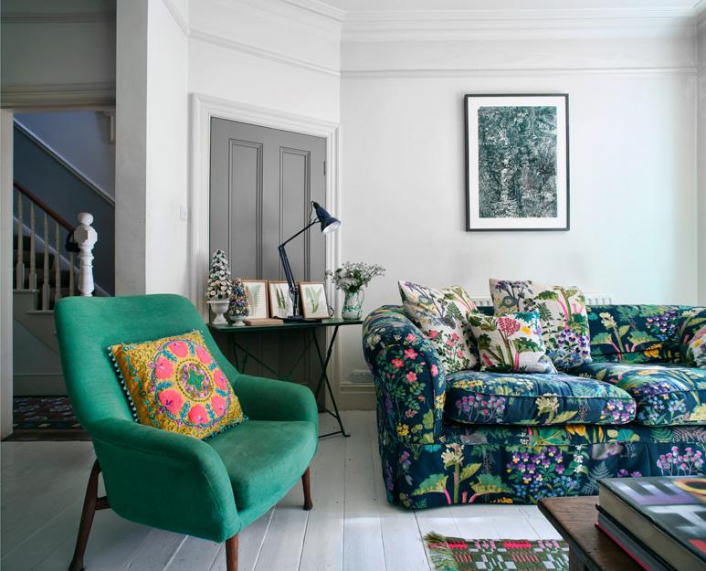 Mẫu sofa hoa trong thiết kế nhà hiện đại