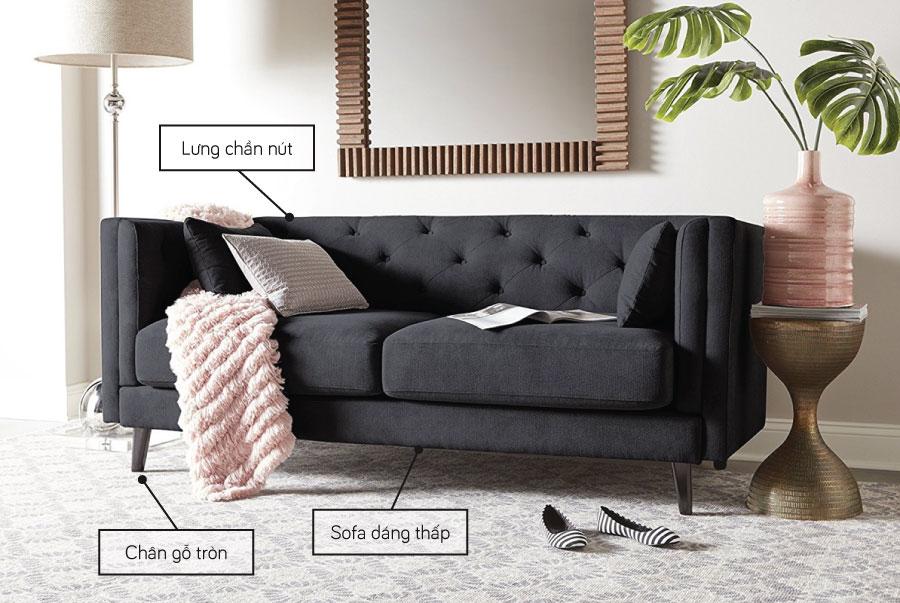 Mẫu sofa đẹp theo phong cách Mid century