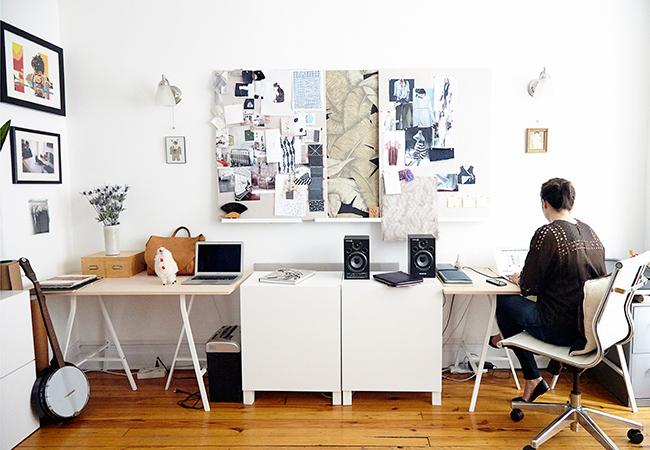 Căn hộ 1 phòng ngủ của nhà thiết kế vải Leah