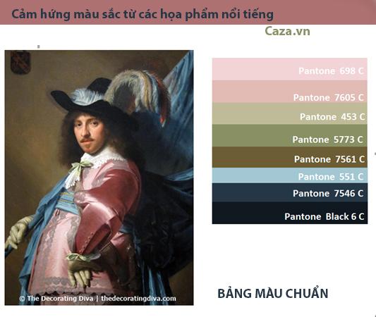 Cảm hứng kết hợp màu sắc từ những họa phẩm nổi tiếng