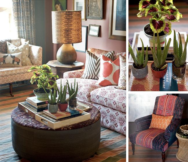 Sản phẩm nội thất bằng vải của John Robshaw