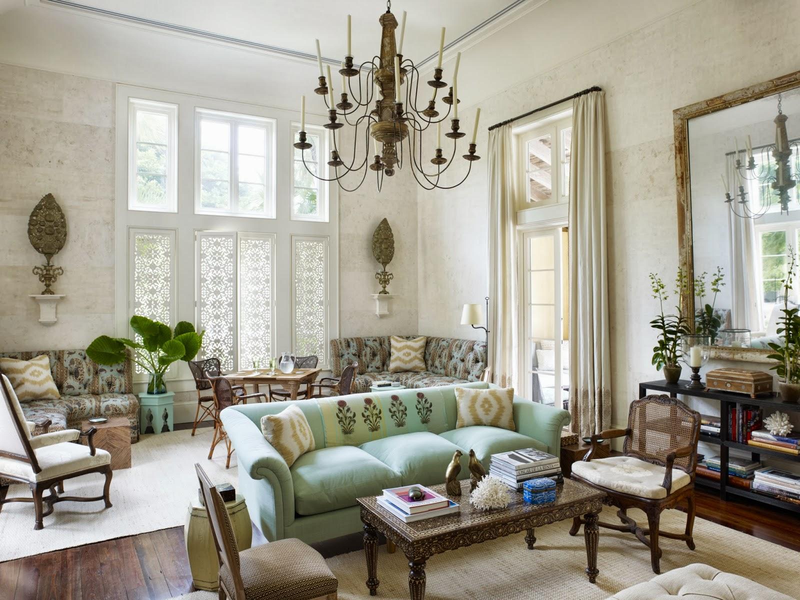 Phòng khách theo phong cách nội thất Shabby chic