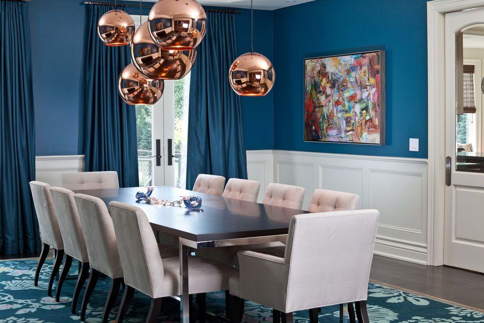 Thiết kế nội thất màu Xanh Cổ Điển thế nào cho đẹp