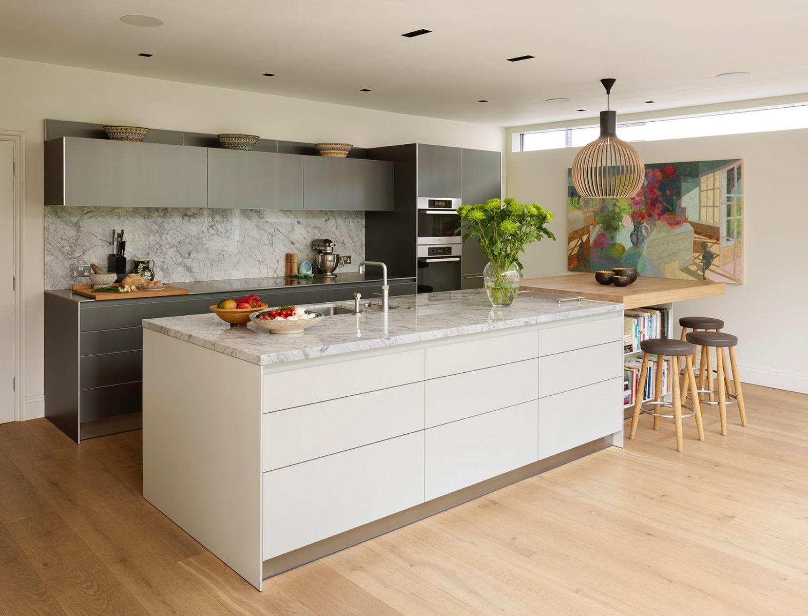 Thiết kế phòng bếp đương đại của bạn: Loại bỏ tay nắm cửa