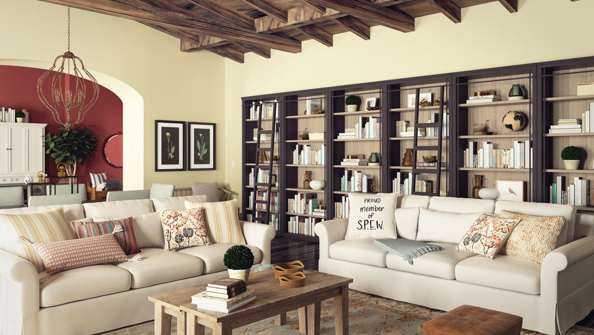 Bộ sofa phòng khách đẹp theo phong cách thanh lịch, cổ điển