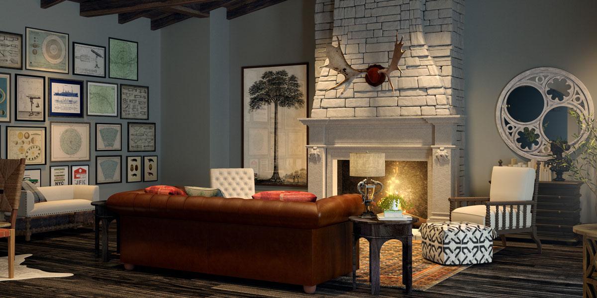 Ghế sofa với tông màu nâu cổ điển đẹp mắt trong không gian hiện đại