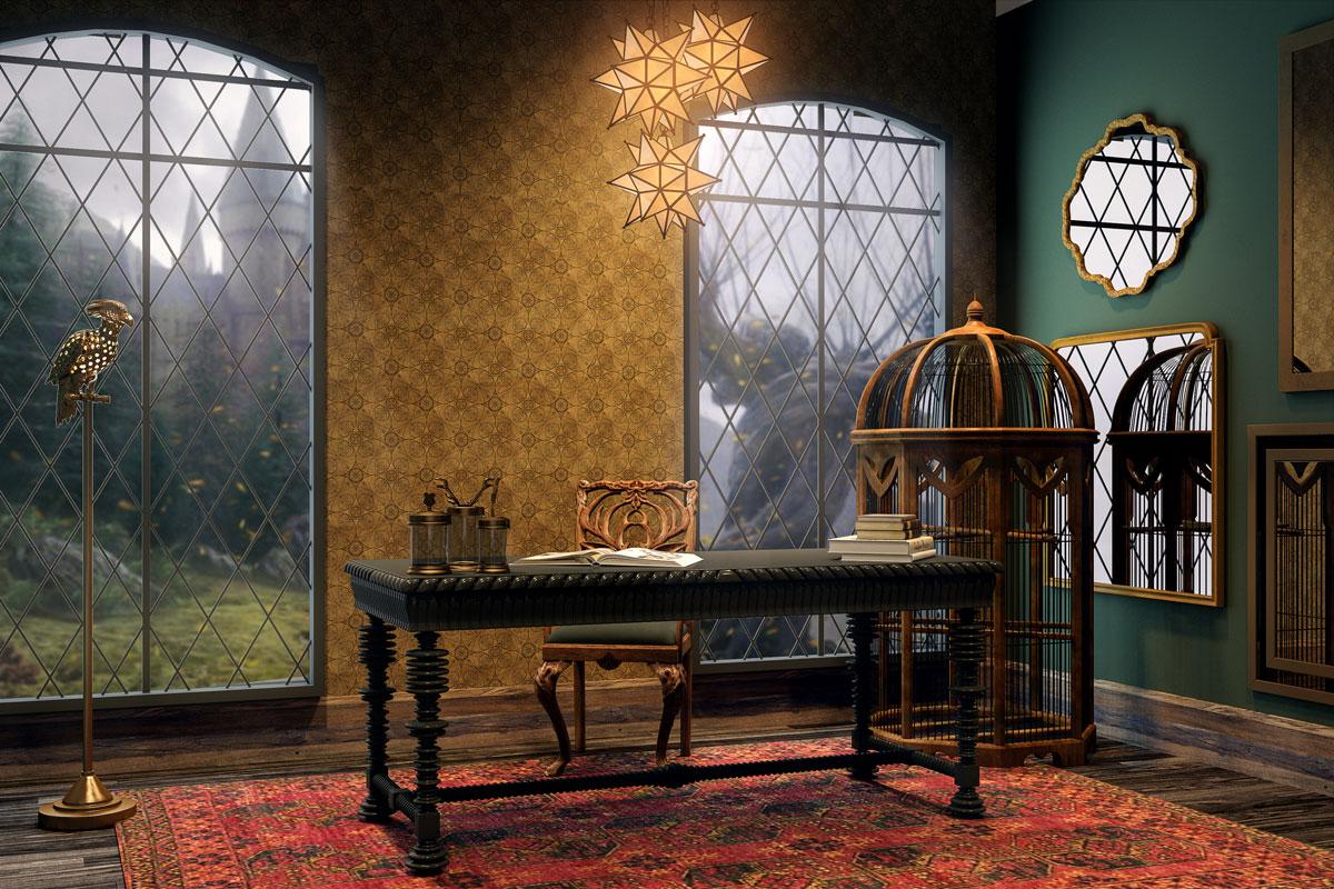 Thiết kế phòng làm việc của Albus Dumbledore - nhân vật trong Harry Potter ngoài đời thực