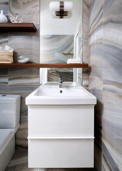 Vị trí chuẩn cho đồ nội thất trong phòng tắm 11