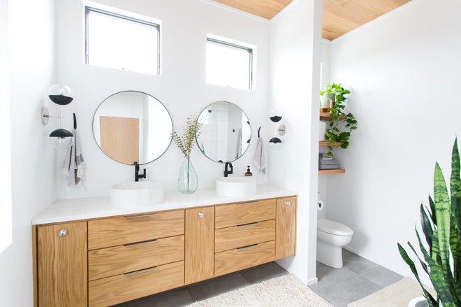 Vị trí chuẩn cho đồ nội thất trong phòng tắm