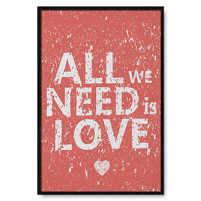 TRANH TREO TƯỜNG ALL WE NEED IS LOVE
