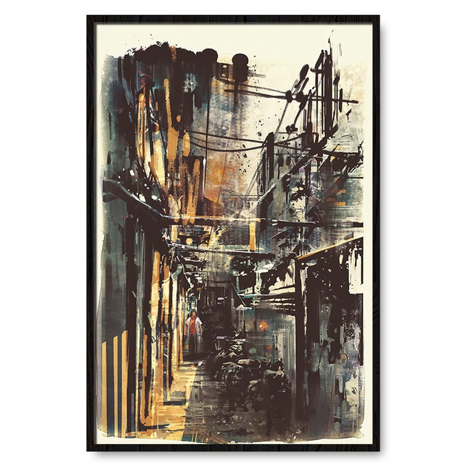 TRANH OLD TOWN PAINTING SNS293