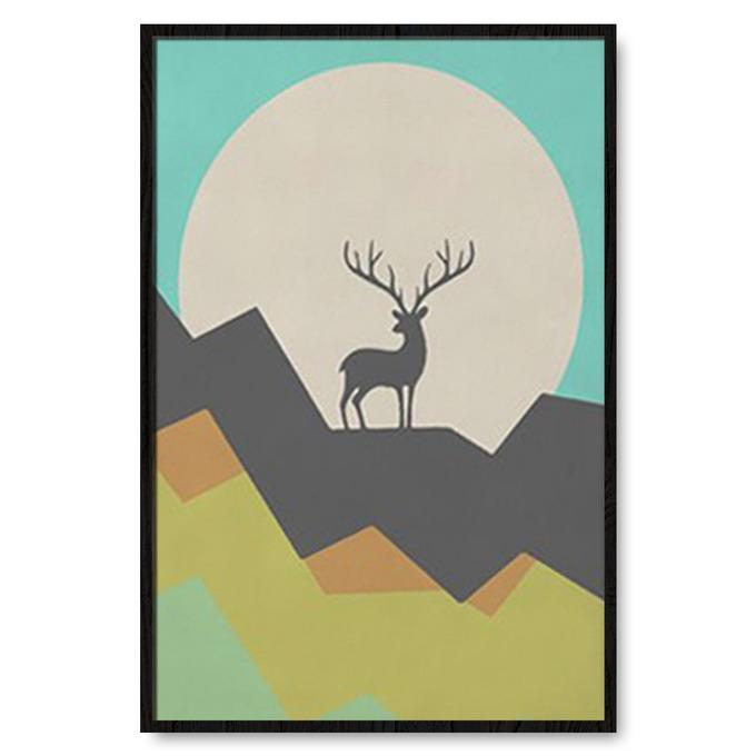 TRANH TRỪU TƯỢNG DEER, MOUNTAIN, GEOMETRIC