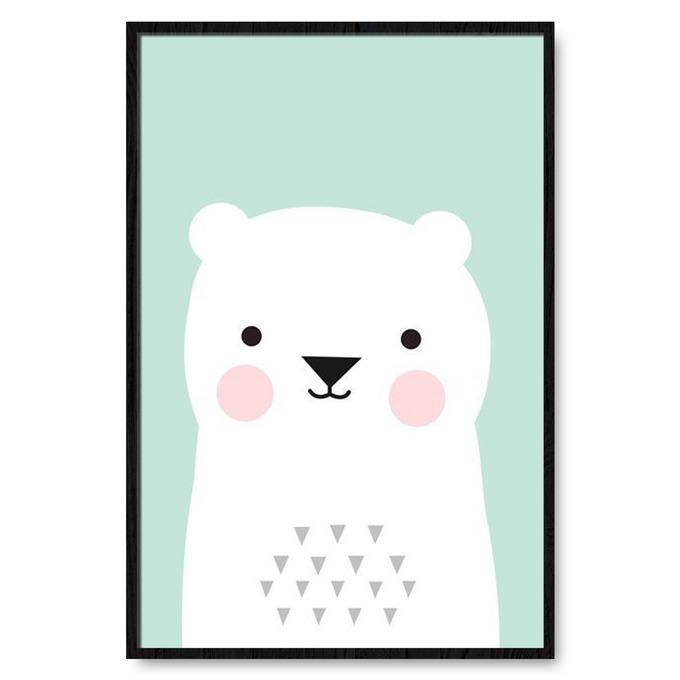 TRANH TREO TƯỜNG BEAR, COOL, FUNNY, PASTEL
