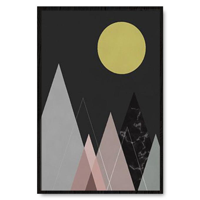 TRANH TREO TƯỜNG MOUNTAIN GEOMETRIC, BLACK
