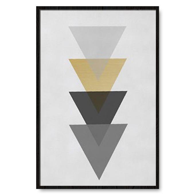 TRANH TREO TƯỜNG GOLD TRIANGLE GEOMETRIC 2
