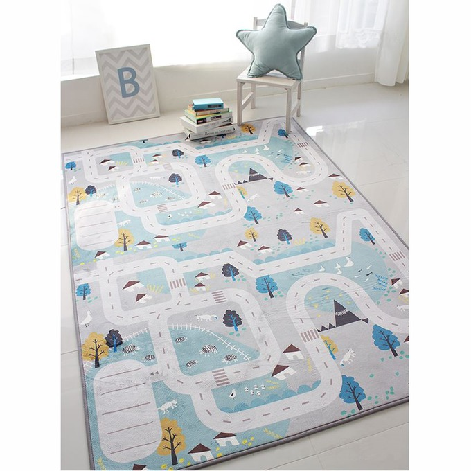 Mẫu thảm dùng cho phòng học, phòng ngủ của trẻ nhỏ với chất liệu an toàn cho trẻ nhỏ.
