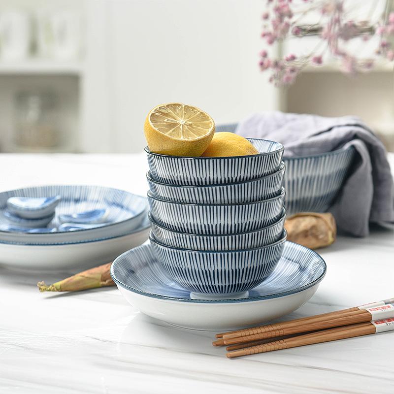 Chi tiết bộ bát đĩa ăn cơm Yashi theo phong cách Nhật Bản